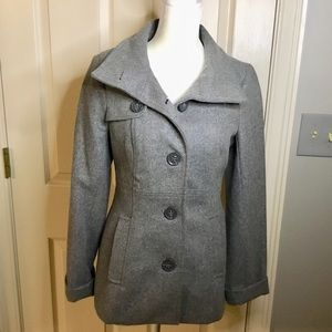 Esprit Gray Wool Blend Pea Coat -Size 2